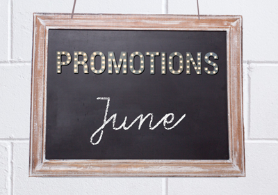 May 2021 Promotions
