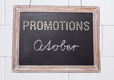 October 2021 Promotions
