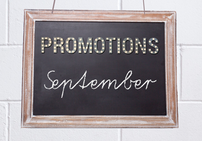 July 2021 Promotions